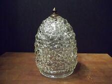 Rare Bubble Vint. Antique Handmade Ceiling Light Fixture Lamp Shade Glass Finial