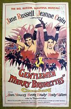 """See 'em sizzle! """"GENTLEMEN MARRY BRUNETTES"""" with Jane Russell, Jeanne Crane"""