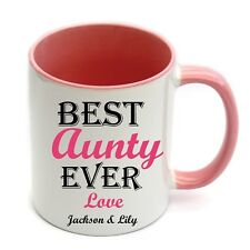 Personalised Best Aunty Ever Ceramic Coffee Cup Mug Birthday Gift Christmas