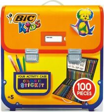 BIC KIDS 100 PIECE COLOURING AND STICKER ACTIVITY CASE - PERFECT FOR CHRISTMAS!!