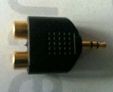 ADAPTADOR AUDIO GOLD 2 HEMBRAS RCA a MACHO 3.5mm. STEREO OAD-3