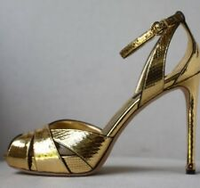 Louis Vuitton Schlangenleder metallic gold Heels EU 37 UK 4