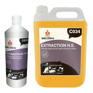 Selden Extraction H.E. - Woolsafe Approved Low Foam Hot Water Extraction Cleaner