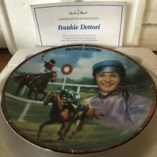 RACEHORSE PLATE JOCKEY FRANKIE DETTORI DANBURY MINT ROYAL WORCESTER CERT & BOX