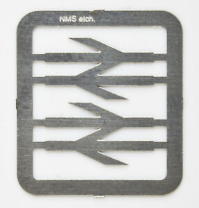 4mm scale 'OO' etched stainless steel 6.5mm BR Railfreight double arrows 1 pair.