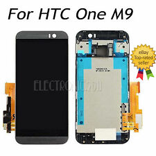 for HTC One M9 Grey LCD Display Touch Screen Digitizer With Frame US