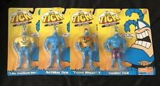 """THE TICK """"TICK TALKERS"""" FIGURE 6"""" COMPLETE SET 4 BAN DAI FOX KIDS NETWORK CARDED"""