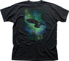 STAR TREK starfleet USS Enterprise black cotton t-shirt 9887