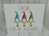 Rae Dunn by Magenta Gnome for the Holidays Christmas Wood Sign White NEW