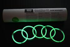 DirectGlow 300ct Green Glow Bracelets Glow in The Dark Party Favors