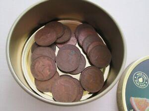 1950's & 1960's Lot 23 Half  Penny Bulk X Coins PRE DECIMAL AUSTRALIAN in Tin