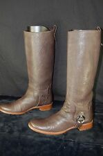 SUPER GORGEOUS !!! CELINE FLAT LEATHER WOMEN  RIDING BOOTS. EU 40 US 10