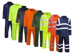 Waterproof Rainsuit   Jacket & Trouser Rain Suit Set   Hi Vis   Workwear