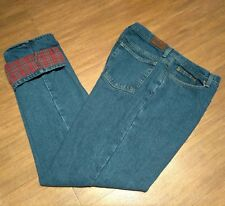 L.L. Bean Flannel Lined Jeans Women's Double LL Relaxed Fit 12M/T 30 x 32