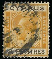 1925 CYPRUS 2pi KING GEORGE V USED STAMP SCOTT 98