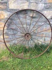 "Antique Primitive Carriage Wagon Wheel53"" Rustic -18 Spoke Natural Patina"