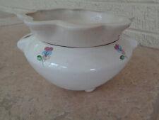Vintage African Violet Self Watering Pot 2 Piece Ceramic Succulent Planter