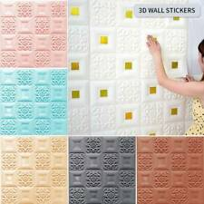 Foam 3D Tile Brick Wall Carved Wallpaper Panels Sticker Self-Adhesive DIY Decor