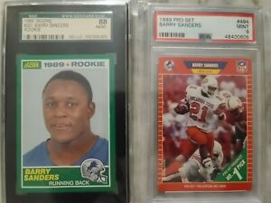 🔥🏈 BARRY SANDERS ROOKIE CARD LOT GRADED HIGH PSA SGC HOF GREAT INVESTMENT PC