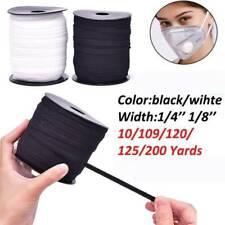 """Diy 10-200Yards Length Braided Elastic Band Cord Knit Band Sewing 1/8"""" 1/4 """" ,"""
