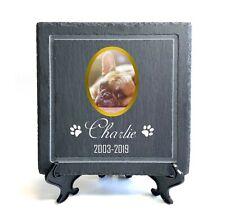 Personalised Pet Memorial Plaque Custom 20x20 cm Slate Stone Grave Marker 2020