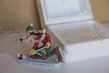 DISNEY ORNAMENT GROLIER GOOFY HOCKEY 1992 CERAMIC MERRY CHRISTMAS HOLIDAY XMAS