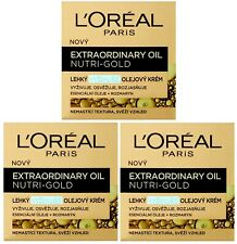 3 x 50ml LOreal Extraordinary Oil Nutri-Gold Light Oil Cream Anti Aging Cream