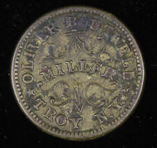 Civil War Store Card Token, R1, Store card die: NY-890-B, Troy, NY; #SCT1401