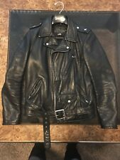 Schott NYC 819 S Perfecto Leather Asymmetrical Biker Jacket