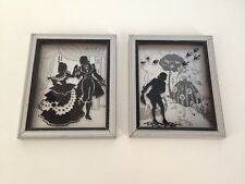 Pair of Antique DELTEX Products Silhouettes Art Deco Art Pictures, Gallant, Minu
