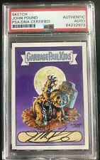 Garbage Pail Kids John Pound Dead Ted Painted Sketch PSA Authentic Rare 1/1