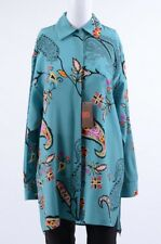 86920d1daef19 Etro blue multi 8 M 44 silk paisley print button down blouse shirt top NEW   820