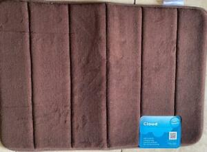 New Mohawk Cloud 9 Memory Foam Dark Brown Bath Mat Bathroom Rug 17 x 24