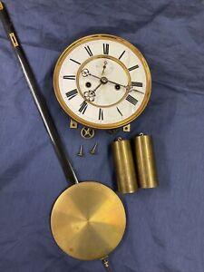 Wiener Regulator Uhrwerk Gründerzeit Historismus Wanduhr Uhr Antik Uhrmacher