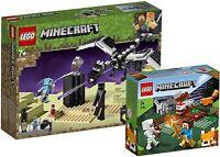 Lego Minecraft Bundle (21151) The End Battle & (21162) The Taiga Adventure - New