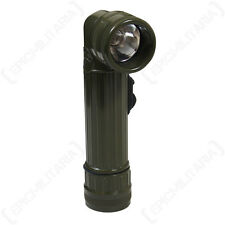 Angle Head Flashlight - Torch Military Army Cadets Coloured Filters Camping