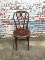 Vintage Bentwood Bistro Chair Ice Cream Parlor Wood Wooden Chair