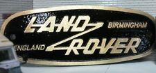 Land Rover Defender Brass Bronze Grill Tub Heritage Front Panel Badge Birmingham