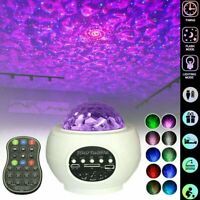 Galaxy Starry Night Light Laser Projector Ocean Star Sky Party Speaker LED Lamp