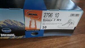 Meindl Wanderschuhe Borneo 2 MFS Leder 10,0 Neu 44,5 Original Verpackt 2796 10