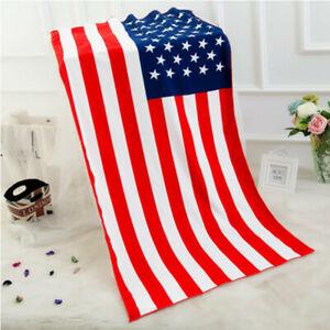 70*150cm Flag Printed Beach Towel Microfiber Sand Free Beach Towel Mats Swimming