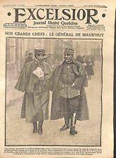 Général Louis Ernest de Maud'huy en Picardie Légion d'Honneur WWI 1914