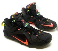 "Nike Lebron XII Elite Series ""Data"" 684593 068 Blk/Brht Mng-hypr Pnch size 12 DS"