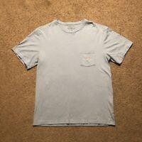Vineyard Vines Pocket T Shirt Baby Blue Men's Size Small