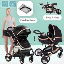 Baby Stroller 9 in 1 Pram Foldable Pushchair Kids Travel Luxury Baby Carriage