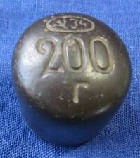 CCCP WEIGHT with SICKLE HAMMER 200g 1934 Terracotta Ceramic Old Russian Soviet