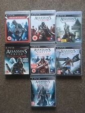 REDUCED ALL 7 ASSASSINS CREED GAMES COLLECTION BUNDLE FOR SONY PS3,