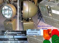 EISEMANN HANDLAMPE BATTERIEHANDLEUCHTE KEB 130 LAMPE LATERNE BW BUNDESWEHR BOSCH