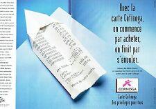 PUBLICITE ADVERTISING 126  1998   Carte  crédit Cofinoga (2p)  banque 2