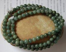 "100% Natural (Grade A) Untreated Oily Green Jadeite JADE Necklace 32"" #N314"